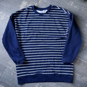 ☀️3/$25 ASOS Navy Blue White Stripe Sweatshirt G21
